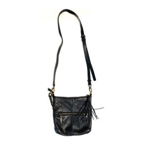 Lucky Brand Black Cross Body Leather Bag Handbag